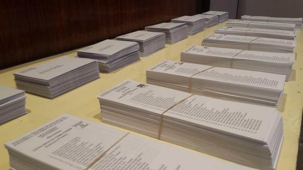 Papeletas votaciones Congreso